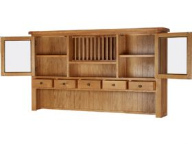 Winchester Oak Extra Large Hutch Open