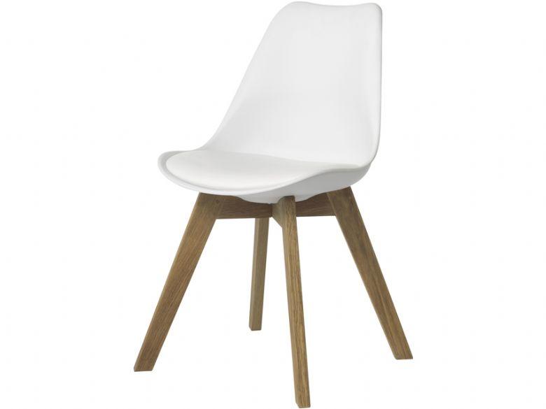 Durham Genoa White Shell Chair