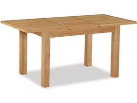 Salisbury oak compact dining table fully extended