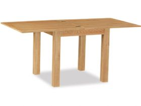Salisbury oak square table fully extended