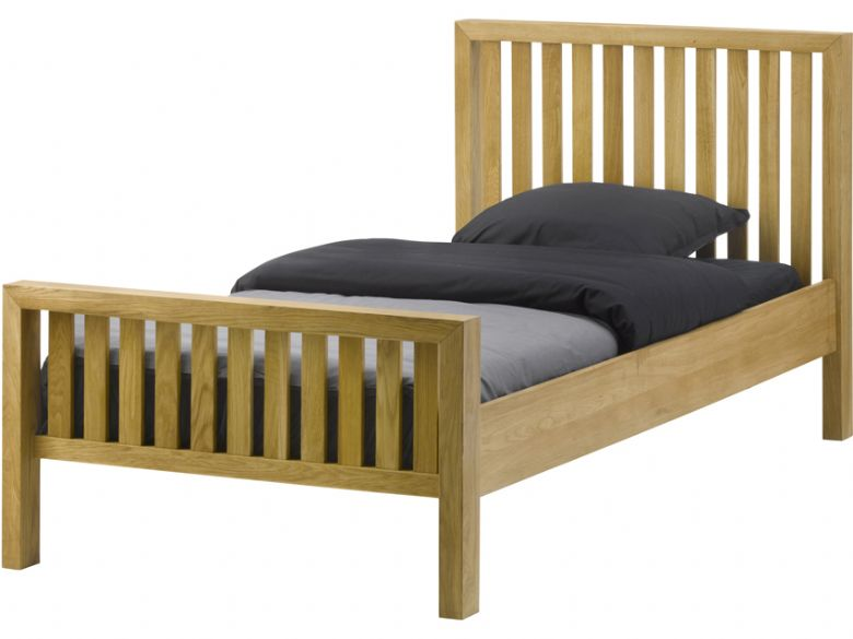 Oak 3'0 Single Bed Frame