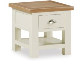 Buttermilk Lamp Table With Drawer