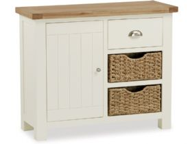 Buttermilk Small Sideboard With Baskets
