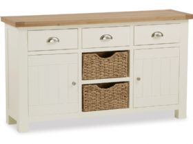 Suffolk buttermilk large sideboard with baskets