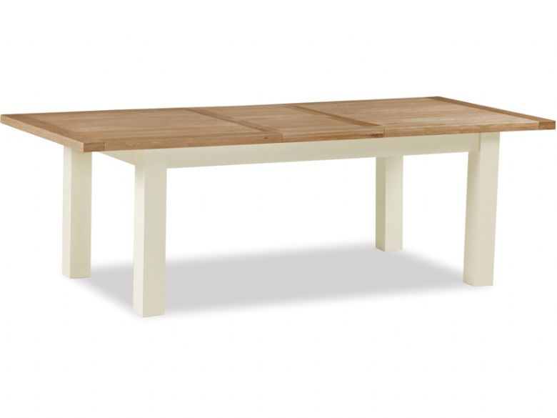 Suffolk buttermilk large extending dining table - fully extended