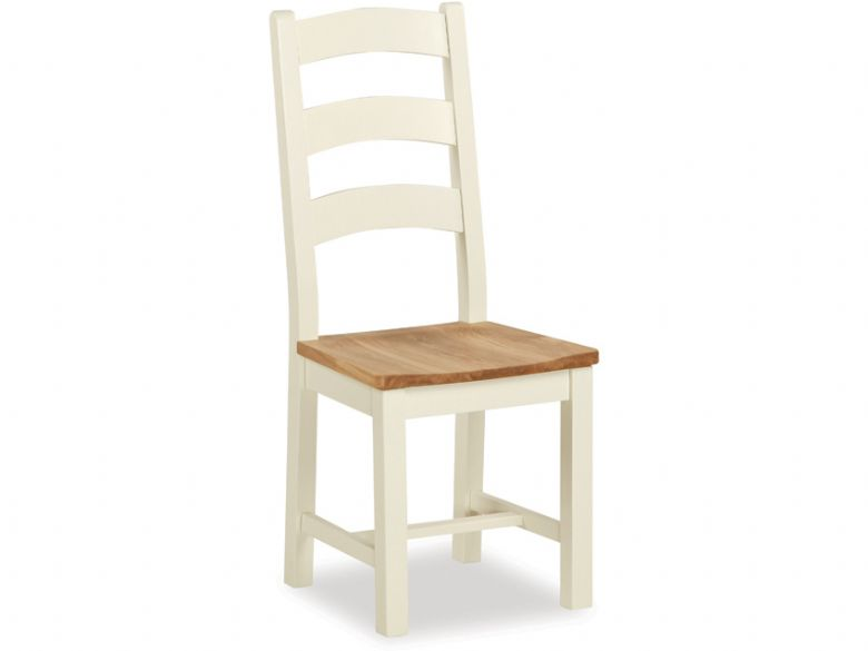 Suffolk slated back chair buttermilk and oak chair