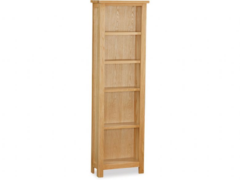 Oak Slim Bookcase
