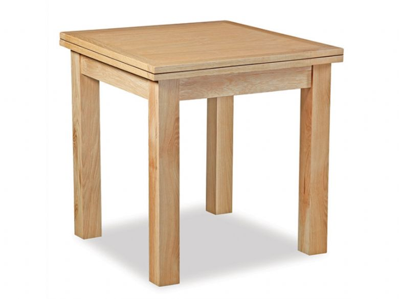 Oxford oak square extending dining table