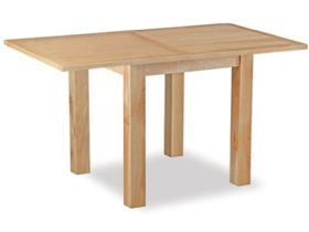Oxford oak square extending dining table - fully open