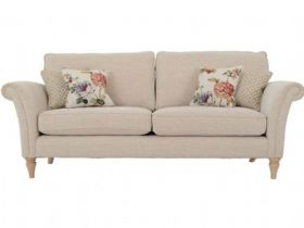 4 Seater Standard Back Fabric Sofa