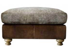 Leather And Fabric Footstool
