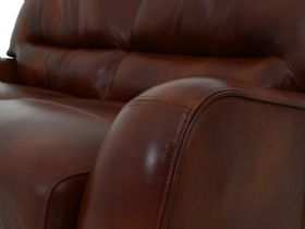 Miki 2 Seater Leather Sofa Arm Detail