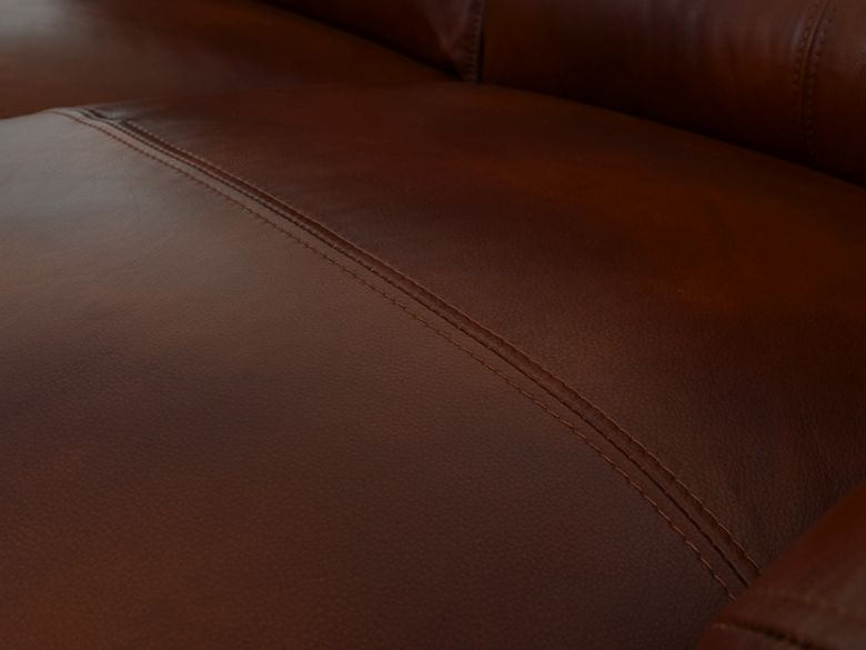 Miki 2 Seater Leather Sofa Seat Detail