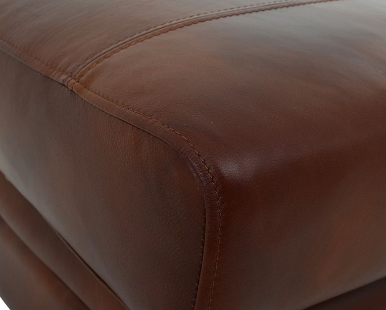Miki Leather Stool Detail