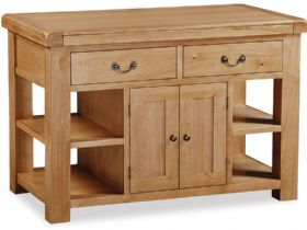 Oak Extending Kitchen Island