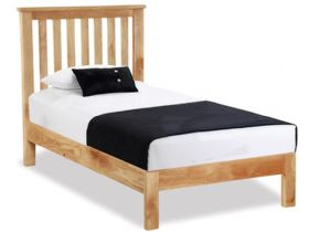 Oak 3'0 Single Slatted bed