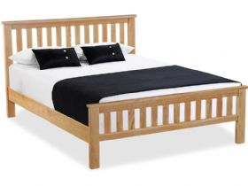 Oak 5'0 King Size Slatted Bed