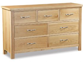 Oak 3 Over 4 Chest of Drawers