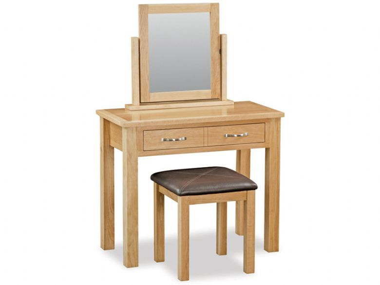 Oak Dressing Table Set