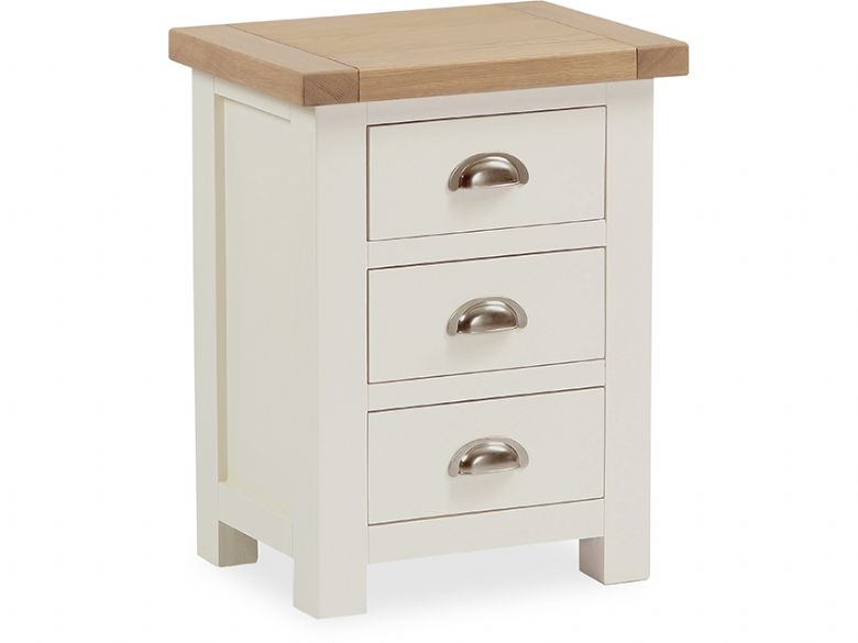 Suffolk buttermilk 3 drawer bedside