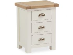 Buttermilk 3 Drawer Bedside