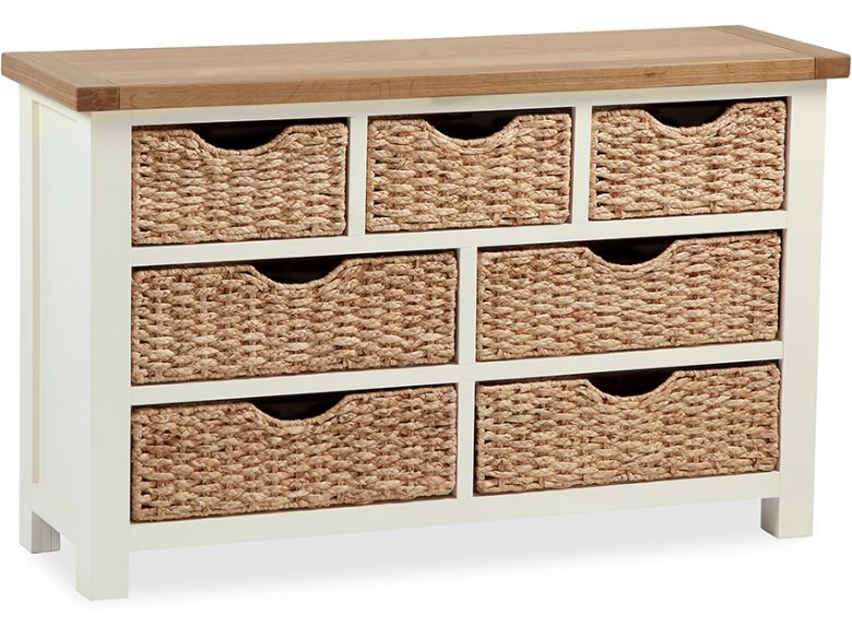 Buttermilk 3+4 Chest of Drawers With Baskets
