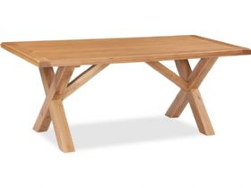 Oak 190cm Cross Dining Table