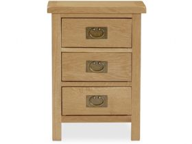 Salisbury oak 3 drawer bedside