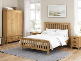Salisbury oak bedroom collection at Furniture Barn