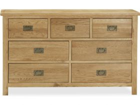 Salisbury oak 3 over 4 chest of drawers