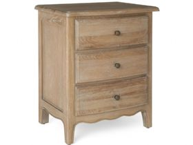 Distressed Oak Bedside Cabinet