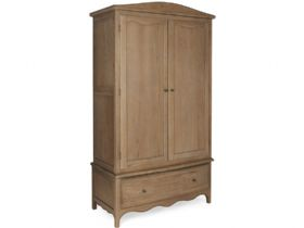 Distressed Gents Wardrobe With Drawer
