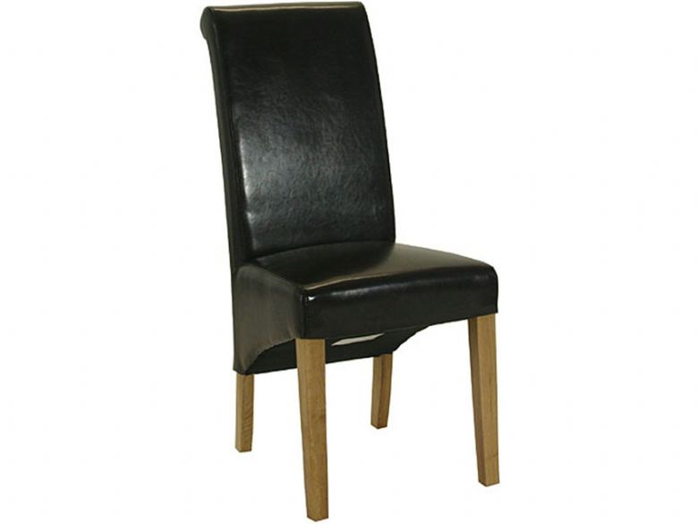 Brown Roll Top Dining Chair