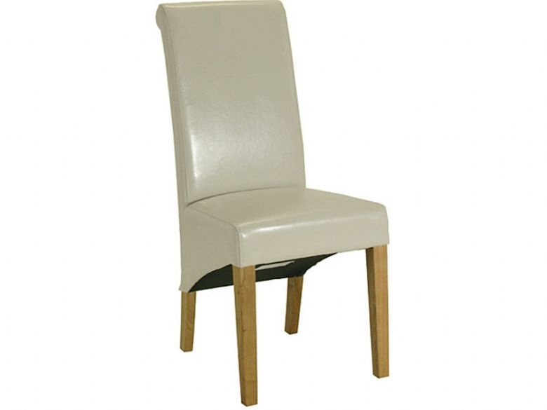 Cream Roll Top Dining Chair