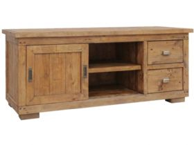 Reclaimed Pine Small TV Cabinet