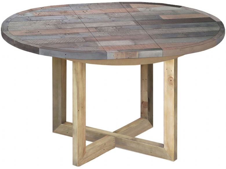 Reclaimed Round Extending Table