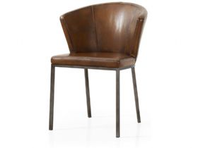 Brown Retro Curve Dining Chair