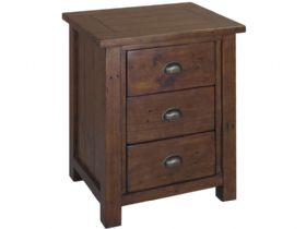 Reclaimed Pine Small Bedside Cabinet