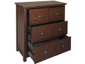 Claverton 2 Over 2 Chest Of Drawers Open