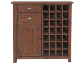 Reclaimed Pine Wine Cabinet