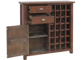 Claverton Wine Cabinet Side Open