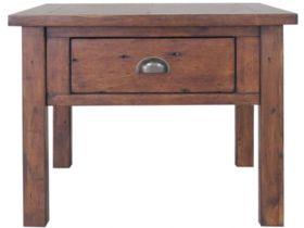 Claverton Reclaimed Lamp Table Front
