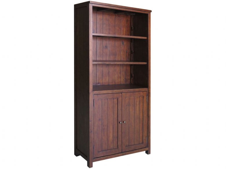 Claverton Bookcase With Cupboard Side