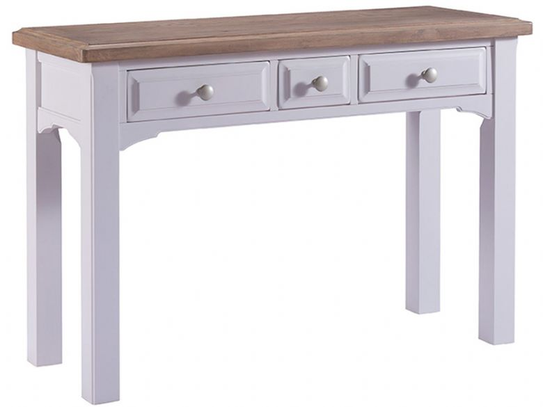 Grey 3 Drawer Dressing Table