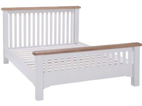 Light Grey 4'6 Double Bed Frame