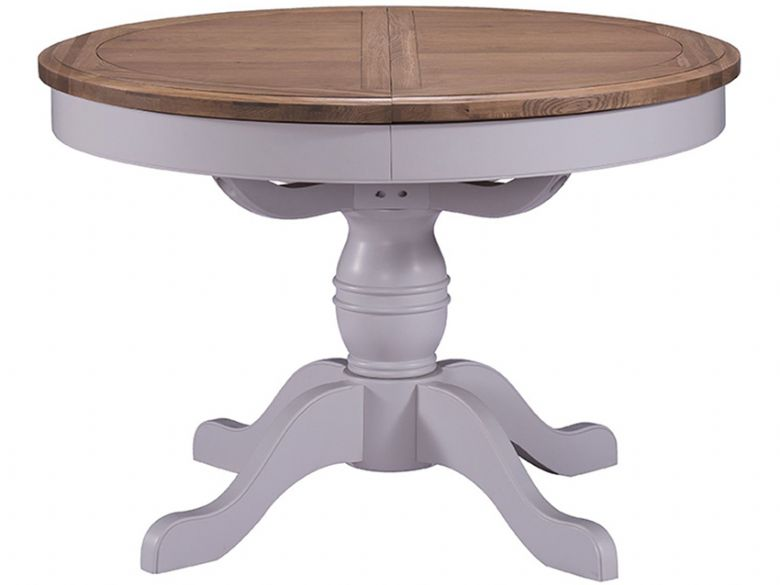 Grey Round Pedestal Dining Table
