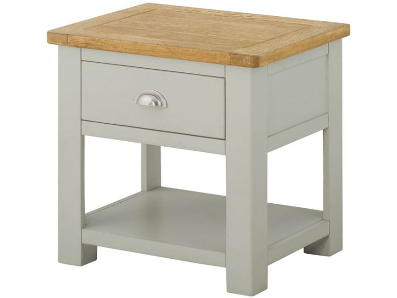Painted Lamp Table With 1 Drawer