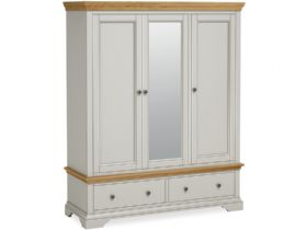 Painted Triple Wardrobe