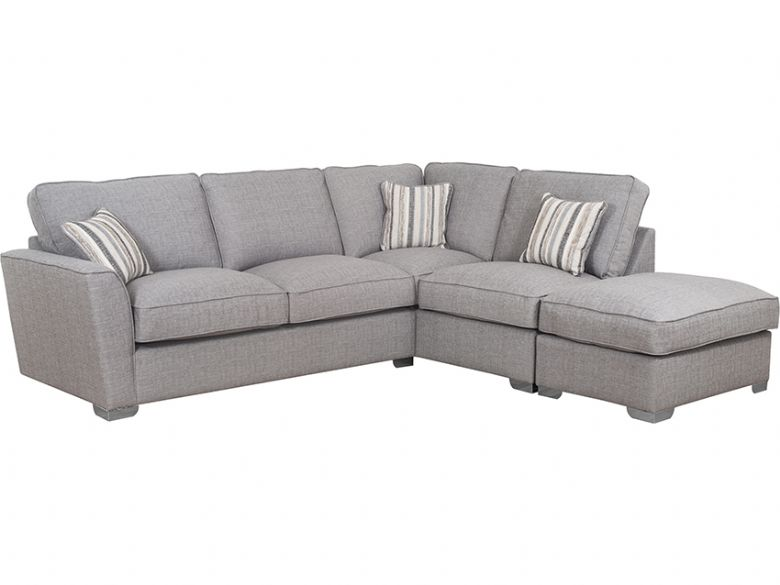Revo RHF Fabric Corner Sofa with Stool