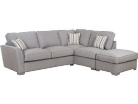 RHF Fabric Corner Sofa with Stool